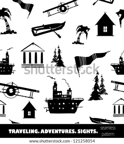 Traveling background - stock vector