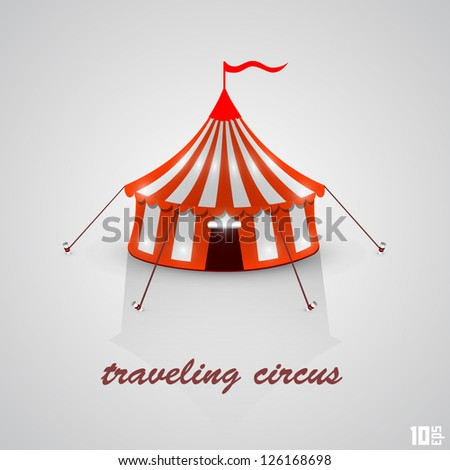 traveling circus - stock vector