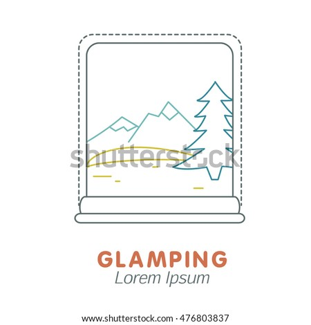 Traveling icon with window