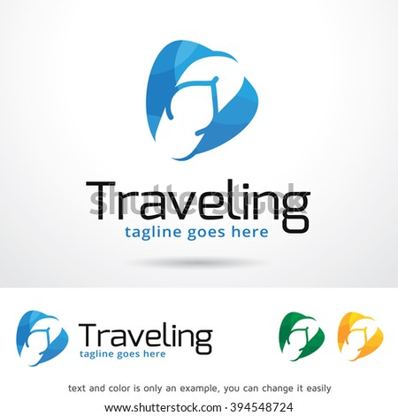 Traveling Logo Template Design Vector