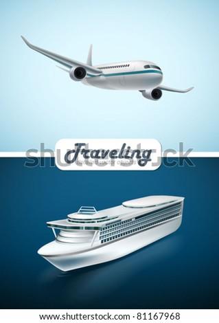 Traveling transport - stock vector