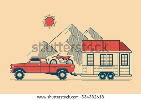 Traveling vector illustration