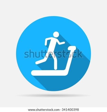 treadmill icon - stock vector