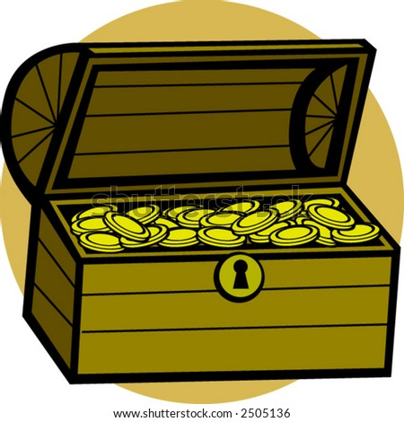 treasure chest - stock vector