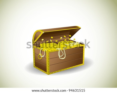 Treasure chest - stock vector