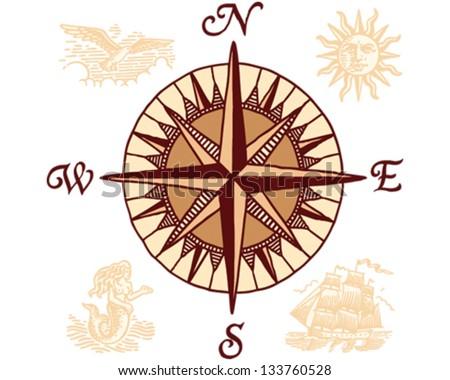 Compass Stock Vector 133760462 - Shutterstock