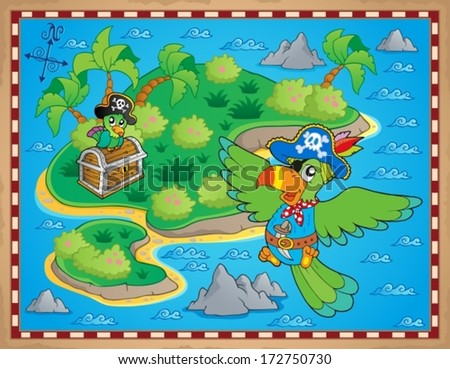 Treasure map theme image 9 - eps10 vector illustration.