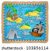 Treasure map theme image 3 - vector illustration. - stock vector