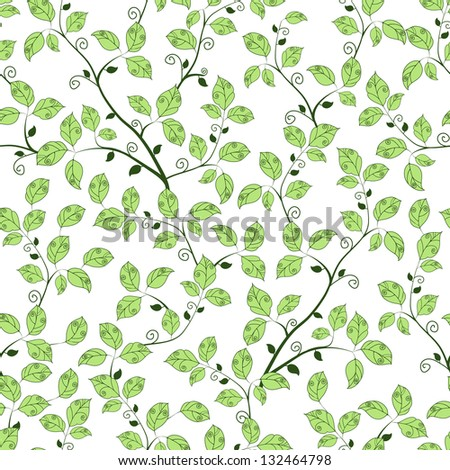 Tree branch. Seamless pattern. - stock vector