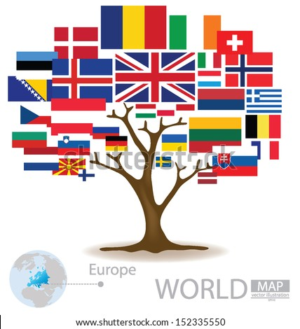 Tree design countries europe flag world stock vector 152335550 countries in europe flag world map vector illustration gumiabroncs Images