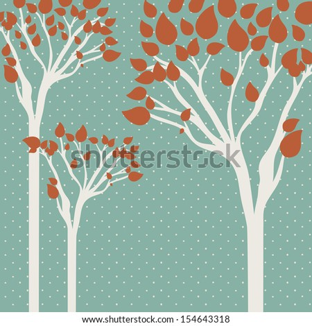 tree design over dotted background vector illustration
