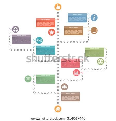 Tree diagram template, vector eps10 illustration - stock vector