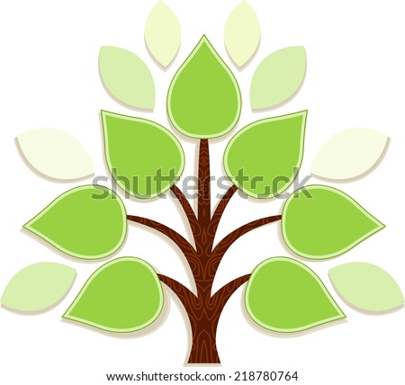 Tree for infographics - stock vector