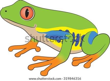 tree frog vector illustration stock vector royalty free 319846316 rh shutterstock com Tree Frog Art Tree Frog Art