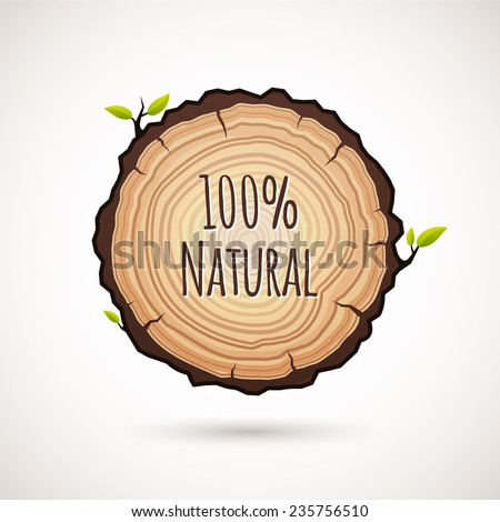 Tree growth rings logo icon, vector tree rings background and saw cut tree trunk. Logo template. Corporate icon. Brand visualization. Eco, bio, organic, natural concept - stock vector