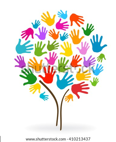 tree hands illustration background
