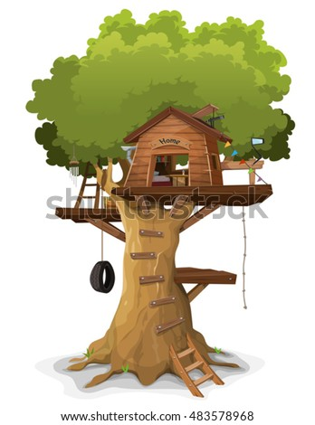 House Inside Tree Stock Photos Royalty Free Images