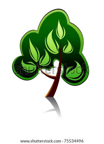 Tree icon for ecology or environment design or template. Jpeg version also available in gallery