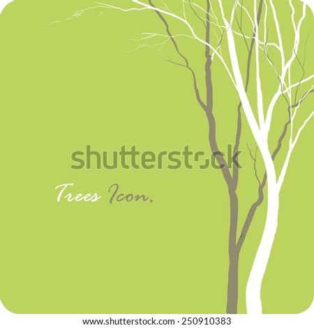 Tree icon green art concept. Minimalism style design template or background.