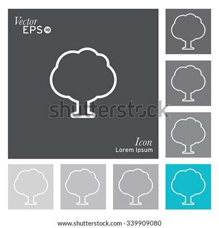 Tree icon - vector, illustration. - stock vector