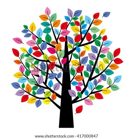 handprint tree clipart