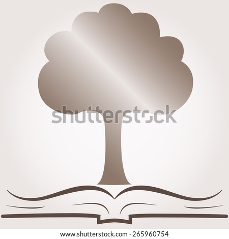Tree of knowledge icon. Eco vector illustration - stock vector