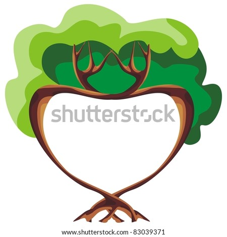 Tree of love - stock vector