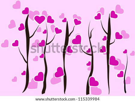tree of love. the concept of the   abstraction - stock vector
