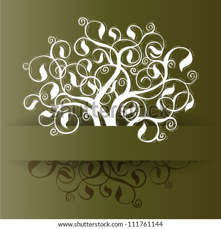 Tree ornament design template