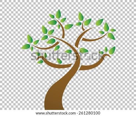 tree over a blank design layer illustration design - stock vector
