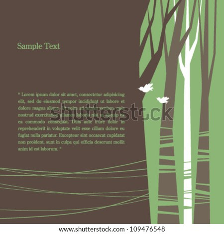 tree pattern background - stock vector