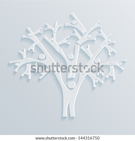 Tree People vector illustration - stock vector