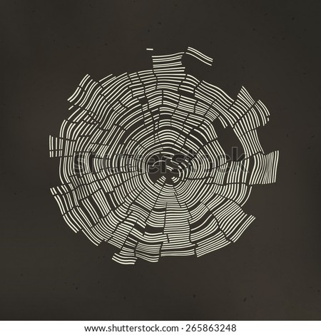 Tree Rings Background. Template for annual reports, brochures, etc - stock vector