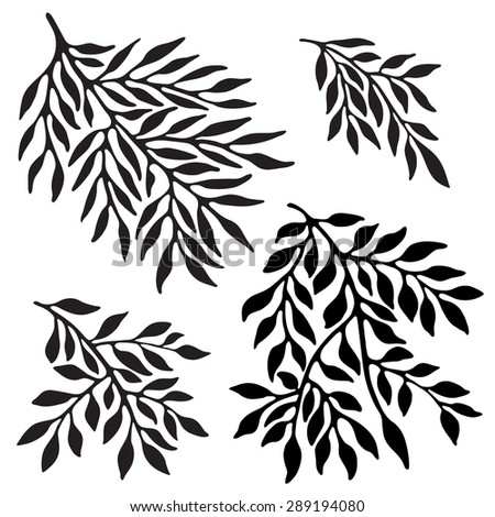 Tree'??s branches silhouette - stock vector
