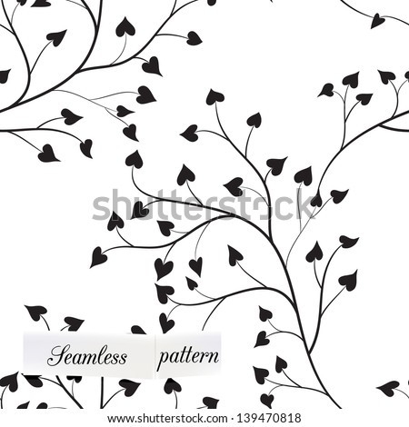 tree seamless pattern can be used for wallpaper, website background, textile printing - stock vector