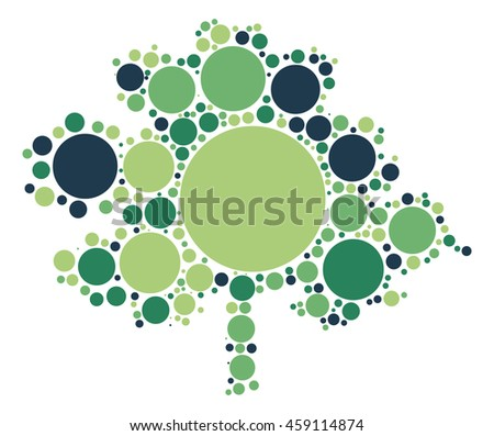 tree shape vector design by color point
