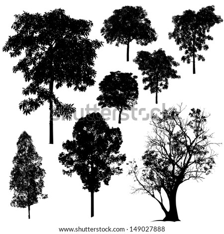 Tree Silhouette Vector - stock vector