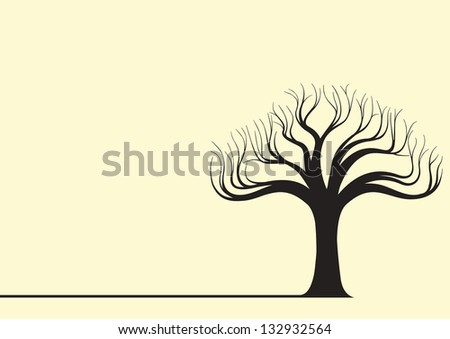 Tree Silhouette Vector Illustration