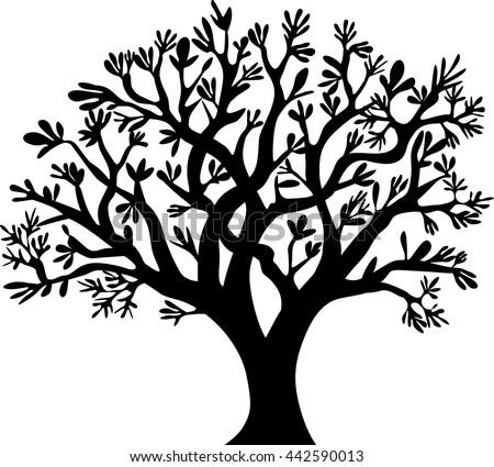 tree silhouette vector illustration stock vector hd royalty free rh shutterstock com