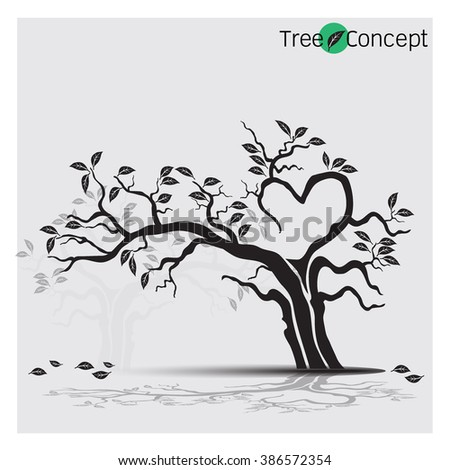 Tree silhouettes. Vector illustration