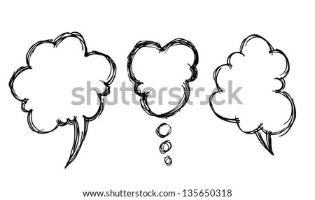 tree simple speak bubbles - stock vector