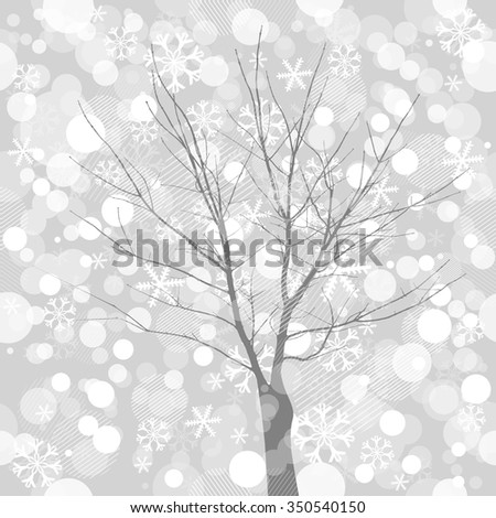 Tree snow. Vector - stock vector