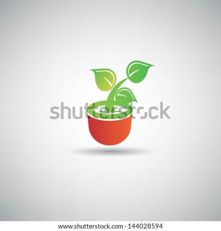 Tree symbol,vector - stock vector