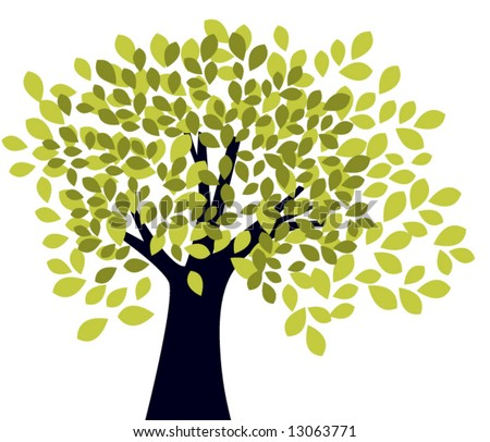 tree (ungroup to edit) - stock vector