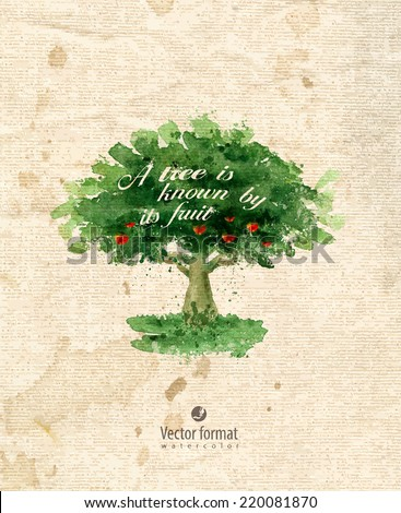 Tree. Vector format - stock vector