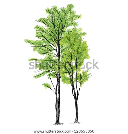 Tree vector - Hand drawn - stock vector