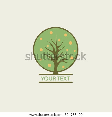 Tree vector logo design template. Garden logotype creative concept. Eco idea ecology icon.