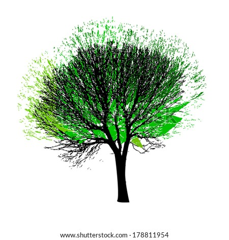 tree with bare branches. Vector - stock vector