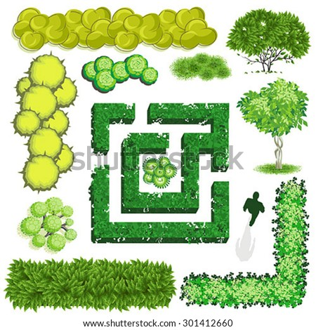 Stock images similar to id 138593246 trees top view for for Landscape design icons