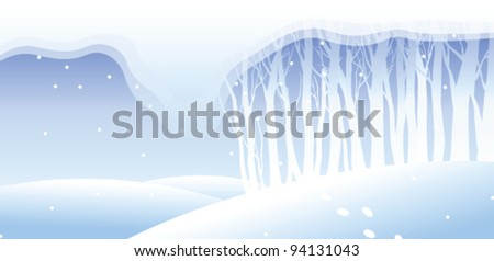 trees covered with snow on a landscape
